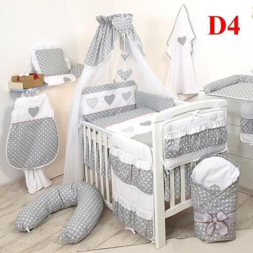 10tlg Babybettwäsche 135x100cm Kinderbettwäsche Bettwäsche Himmel Nestchen Set