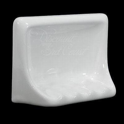 Porcelain SOAP DISH HOLDER Tile WHITE Recessed Bathroom Tub Shower NEW Ceramic