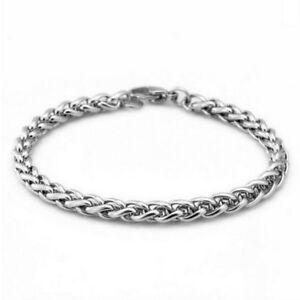 Fashion-Men-039-s-Punk-Stainless-Steel-Link-Chain-Wristband-Cuff-Bangle-Bracelet