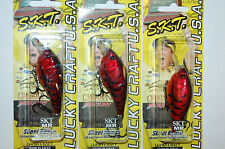 "3 lures lucky craft skeet reese skt mr float 2 1/2"" 3/8oz spring craw crankbait"