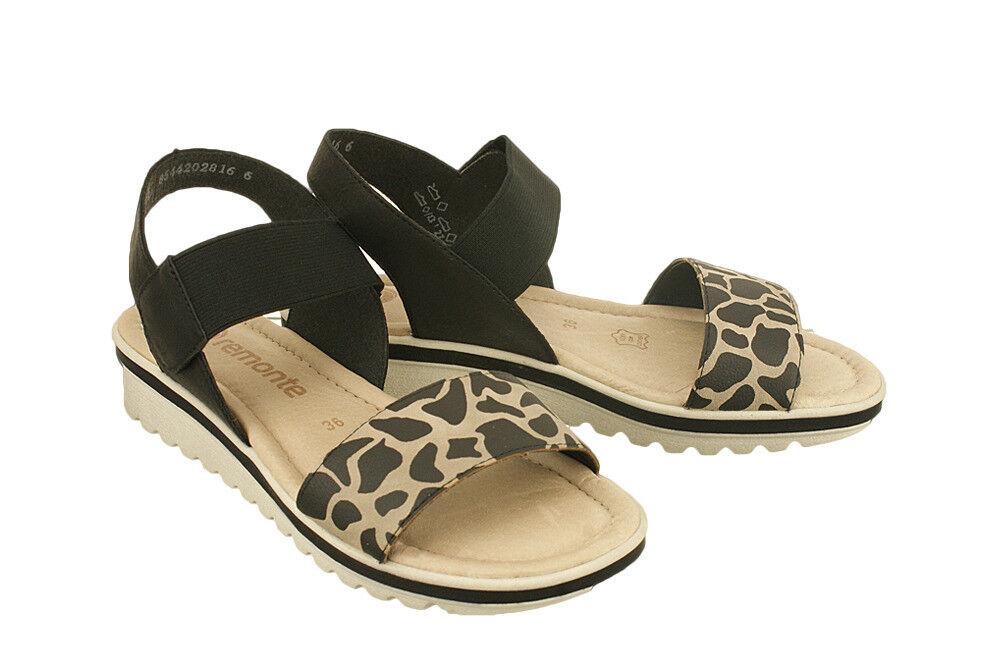 Señoras Negras Negras Negras combinación patrón remonte Cuña Sandalia Zapatos 41 7.5  ventas en linea