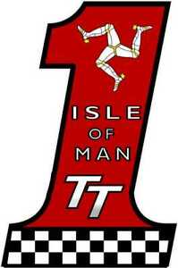 Exterior Vinyl DecalsSticker Race Number 1 Isle of Man TT  Design Motorcycle IOM