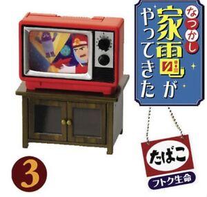 RE-MENT Nostalgia Electric Appliances 2006 Set 3-retro della televisione! Nuovo di Zecca