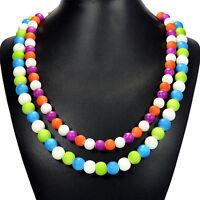 Rainbow Candy Shell Statement Necklace Handmade Bespoke Jewellery Tantric Tokyo