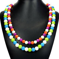 Rainbow Candy Shell Statement Necklace Handmade Bespoke Jewellery Tantric Tokyo