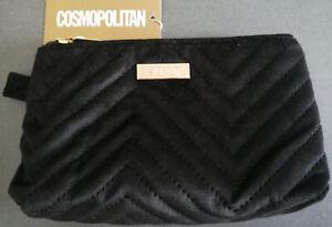 Cosmopolitan-Damen-Handtasche-Schwarz-Clutch-Kosmetiktasche-Make-Up-Tasche-Neu