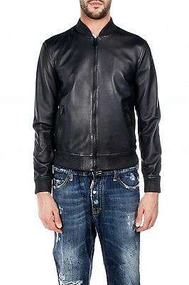 UK Man Men GENUINE Leather Jacket Biker Coat Slim Fit Veste Homme Cuir M23p3