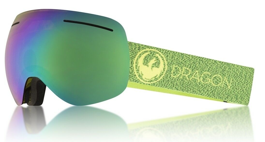NEW Dragon X1 Mill Lumalens Green Mirror Mens Frameless Large Goggles Msrp