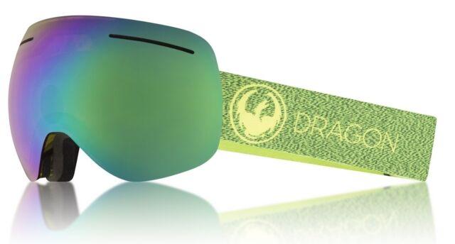 5bc4d2398936 NEW Dragon X1 Mill Lumalens Green Mirror Mens Frameless Large Goggles Msrp  160