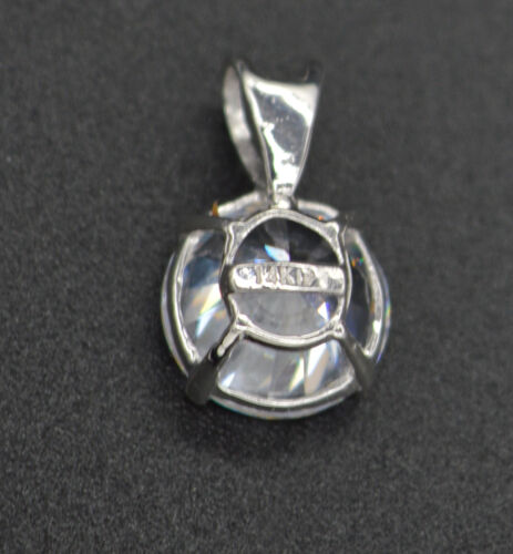 PM04 Created Diamond Solitaire Pendent 2.00ct 14k White Gold