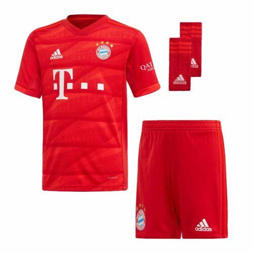 adidas Kids Boys Bayern Munich Home Mini Kit 2019 2020 Domestic Minikits