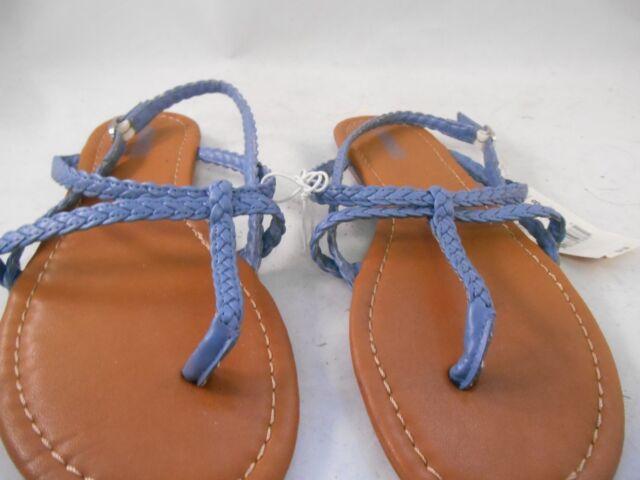 38d6e3737ab0 Buy Bongo Blue Braided Strappy Flat Sandals Women s Size 8 M online ...