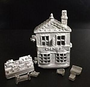 1-12-Scale-Dolls-House-Chemist-toy-dollshouse-HS46U-Pewter