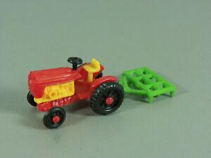 Coches-Tractores-Di-Ue-1978-Tractor-con-Grada-Rojo-Amarillo-Verde-Oscuro