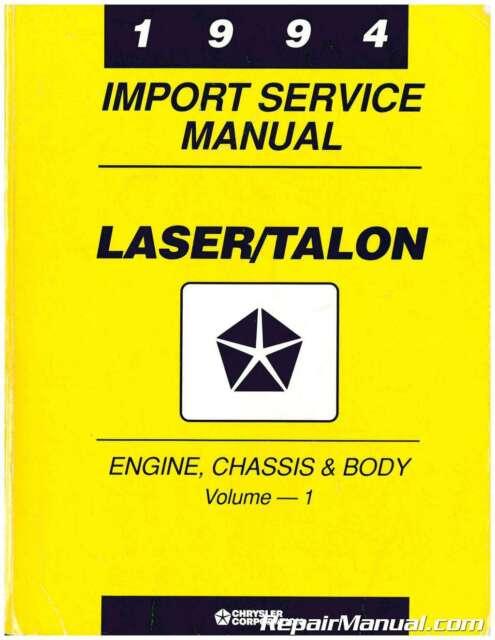 Used 1994 Plymouth Laser  Eagle Talon Service Manual   81