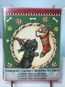 Mary-Engelbreit-SCOTTIE-DOG-Christmas-Note-Cards-New-in-Package-2012
