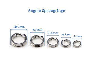 100 stücke Edelstahl Angeln Rig Ringe Terminal Tackle Runde Ringe