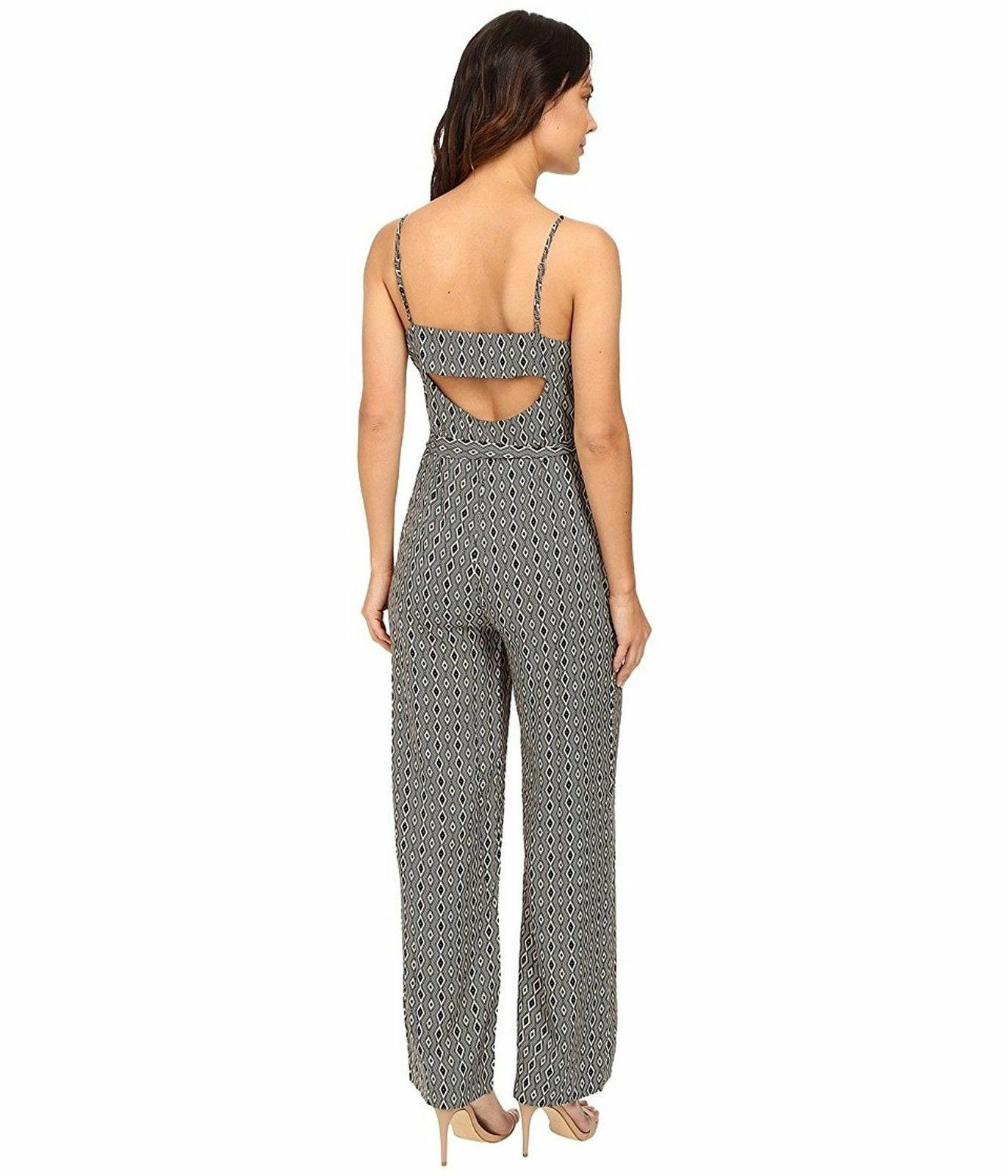 30e2aafb3e14 Sanctuary Women Harper Printed Belted Jumpsuit Black Diamond L for sale  online