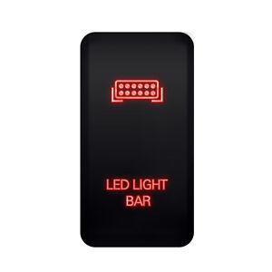 on off push button red led light bar switch for toyota tacoma fj rh ebay com toyota tacoma led light bar switch toyota hilux led light bar switch