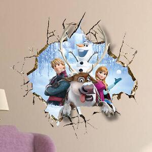 Frozen wandaufkleber wandsticker wandtattoo kinderzimmer 3d for Wandsticker 3d kinderzimmer