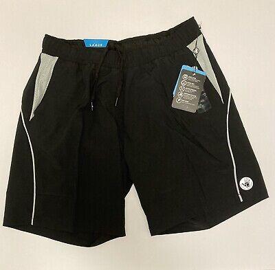 L NWT Body Glove Swimsuit Active Stretch UPF Gym to Swim Hybrid Shorts 34 36