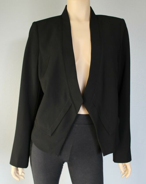 White House Black Market Women's Long Sleeve Drapey Blazer Jacket Size 12