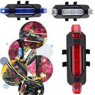 Cycling Night Super Bright 5 LED Rear Tail USB Light Bike Bicycle 4 Mode Lamp FT