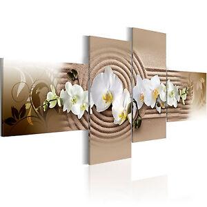 wandbilder xxl wohnzimmer blumen orchidee spa leinwand. Black Bedroom Furniture Sets. Home Design Ideas