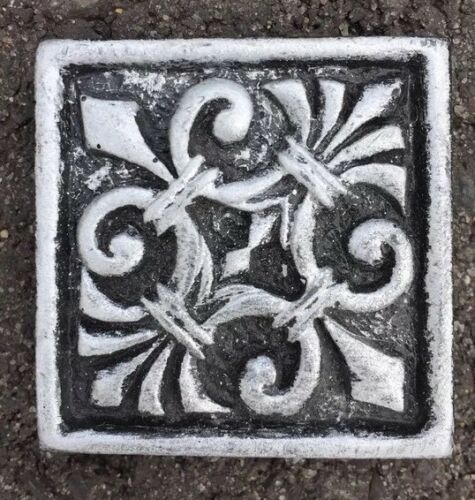 Tile 2x2 Silver Antique Metal Saints Accent Insert Deco 5//pack FREE SHIPPING