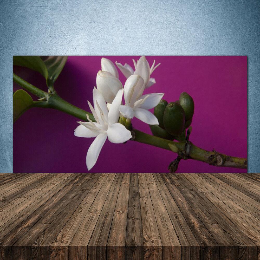 Vidrio Templado Cocina salpicaduras 140x70 FLOR TALLOS Floral
