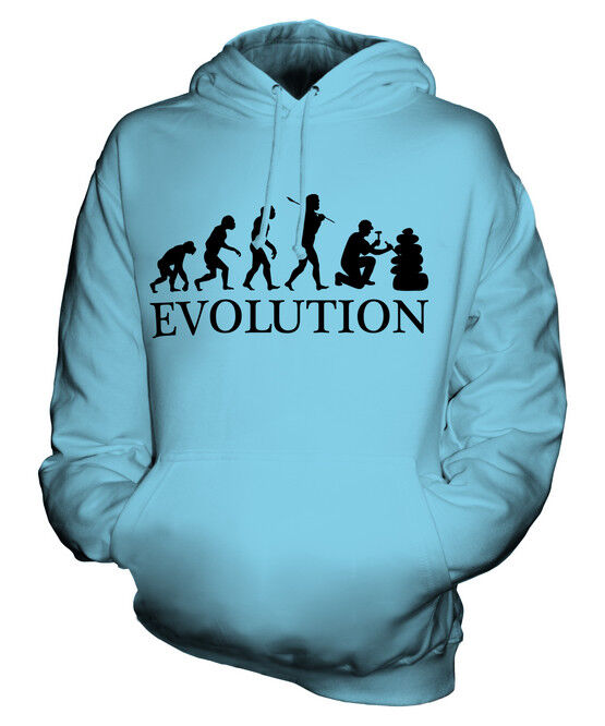 GEOLOGIST EVOLUTION OF MAN UNISEX HOODIE  Herren Damenschuhe LADIES GIFT GEOLOGY