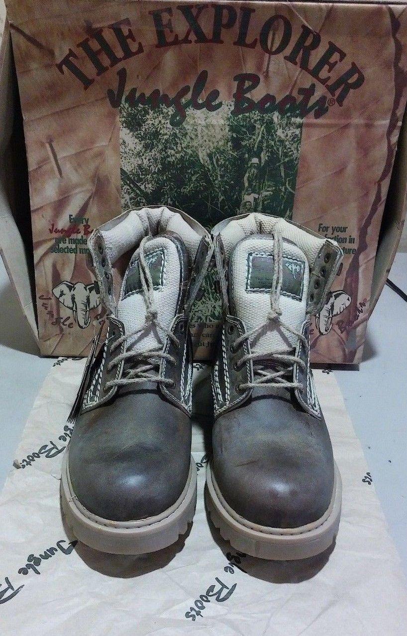 Scarpe casual da uomo  New Jungle Boots #7002 10 M dark brown (1875)