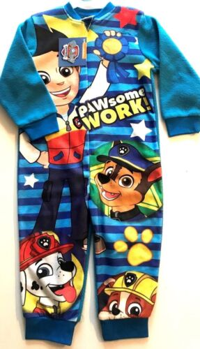Boys official licenced product paw patrol fleece one piece all in one