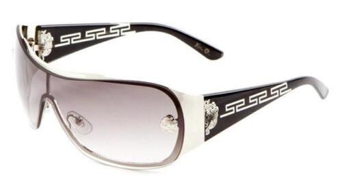 Designer Brow bar Sonnenbrille Groß Gewickelt Sonnenblende Vintage Schild Kleo