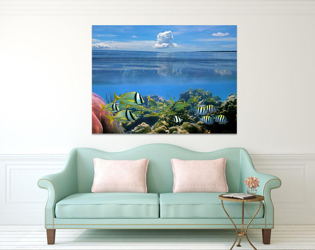 3D Blaue Himmel Meer 59 Fototapeten Wandbild BildTapete AJSTORE DE Lemon