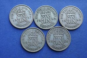George-VI-Sixpences-1937-to-1952-choose-your-date-Selected-circulated