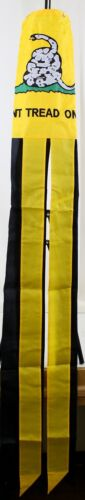 "60/"" Embroidered Gadsden /""Don/'t Tread On Me/"" 100/% Polyester Wind Sock W//Grommets"