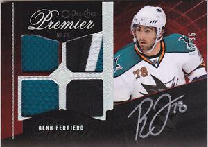 09-10-OPC-Premier-Benn-Ferriero-35-Auto-Patch-Rookie-O-Pee-Chee-2009-Sharks