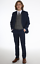 Boys-Suits-Boys-Check-costumes-Page-Garcon-Mariage-Prom-Party-Costume-Garcons-Bleu-Marine-Costume-TR miniature 2