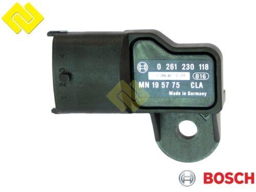 MN-195775 ... BOSCH 0261230118 INTAKE MANIFOLD PRESSURE SENSOR MAP 0051536128