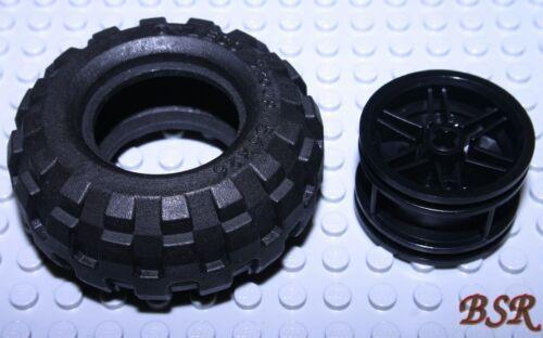 ED74 1 Rad = 1 Felge 56145 schwarz /& 1 Reifen 56x26  schwarz 55976 /& NEU !