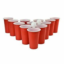 Original Adult Drinking Game Beer Pong Set12 Red Plastic Cups 2 Ping Pong Balls