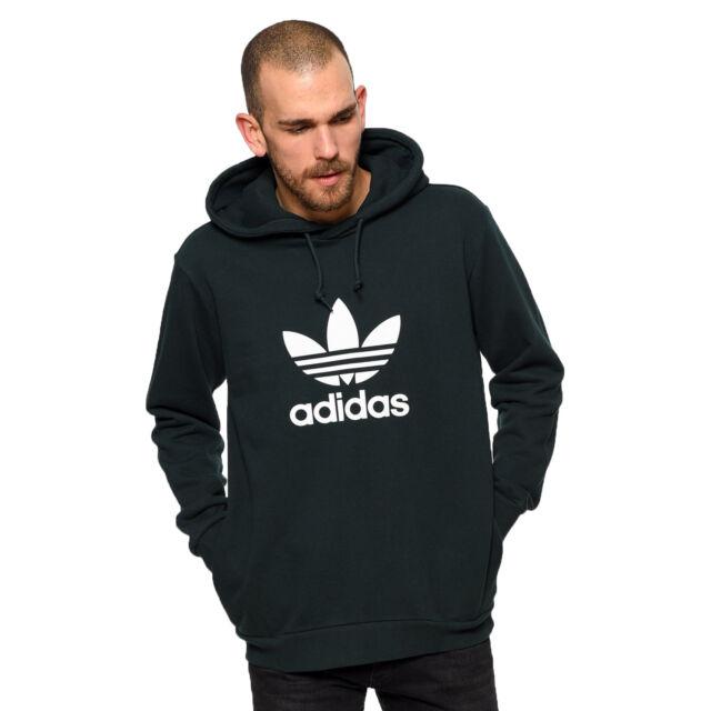 cc397de4ca8e4 Adidas Originals Adidas Trébol Jersey con Capucha Sudadera Sudadera Verde  Oscuro