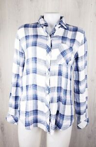 Rails-Hunter-Plaid-Long-Sleeve-Shirt-Size-S