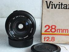 Vivitar Olympus Zuiko OM  Mount 28 mm F2.8 Manual Focus Lens