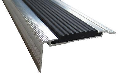 21 mm x 45 mm x 1,7 m Grau//Anthrazit verschiedene Gr/ö/ßen Treppenkanten Winkelprofil Treppenwinkelprofil Treppenprofil Treppenstufenprofil