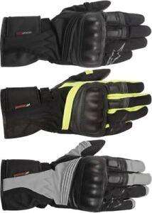 Alpinestar Valparaiso Drystar Waterproof Motorcycle Leather Gloves All Sizes