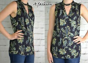 NEXT-LADIES-NAVY-BLUE-PAISLEY-PRINT-BLOUSE-TOP-154-NEW