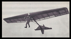 Details about 1/6 Scale Volmer VJ-23 Swingwing Sailplane Plans,Templates  and Instructions 65ws