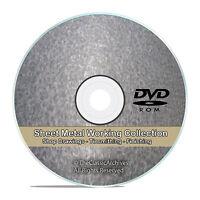 Sheet Metal Work Tinsmithing Pattern Drafting Cutting Shop Library Cd Dvd V72